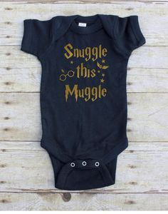 Snuggle This Muggle Harry Potter inspired Baby by FiveWildHearts