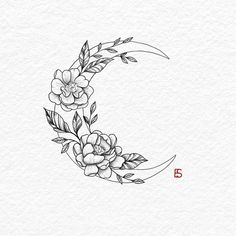 30 Best hot trendy tattoos moon design ideas for women 30 Best hot trendy tat . - 30 Best hot trendy tattoos moon design ideas for women 30 Best hot trendy tat Tatto Drawings - Floral Tattoo Design, Flower Tattoo Designs, Tattoo Floral, Simple Tattoo Designs, Design Tattoos, Small Flower Tattoos, Small Tattoos, Nature Tattoos, Body Art Tattoos