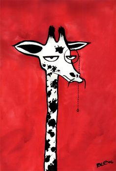 A Giraffe With A Monocle by ~ble on deviantART