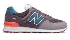 sports shoes 37175 7cc44 New Balance 574 Marbled Street Baskets Basses Light Shale with Sea Smoke pas  cher - Baskets Homme New Balance