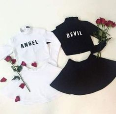 Twin Outfits, Teenage Outfits, Teen Fashion Outfits, Outfits For Teens, Fashion Models, Girl Outfits, Matching Outfits Best Friend, Best Friend Outfits, Best Friend Clothes