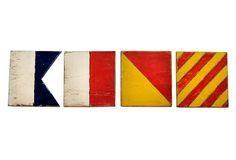 One Kings Lane - Coastal Classics - 12 Sailing Flags Letter Set, Ahoy