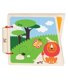 Sturdy wooden pages and simple pictures encourage babies to read along with you!