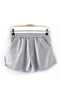 Grey Elastic Waist Rayon Shorts- Maybe I working out will be more fun wearing this, just saying, you know.