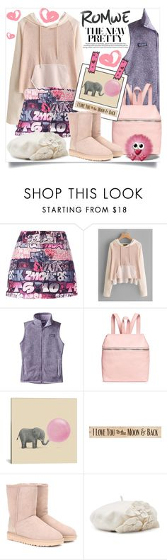 """""""Contest (Romwe)! - Win 35$ coupon!"""" by foreverfashion61 ❤ liked on Polyvore featuring Giamba, Patagonia, iCanvas, DutchCrafters, UGG and Betmar"""