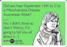 Mitochondrial Disease Awareness 2013
