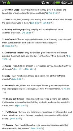 Bible verses for when I have children!
