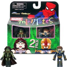 Marvel MiniMates Series 23 Mini Figure 2Pack Gamora  Nova *** Details can be found by clicking on the image.