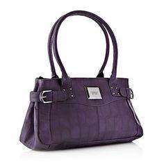 Dark purple leather look tote bag - Shopper   tote bags - Handbags   purses  - Women - f89bcf6b805bc