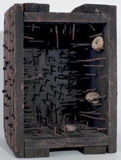 Robert Rauschenberg, Music Box (Elemental Sculpture) 1955 on ArtStack #robert-rauschenberg #art