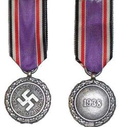 The Nazi Air Warden Honour Award Class World War, Awards, Cufflinks, Pendant Necklace, History, Ribbons, Accessories, Jewelry, Products