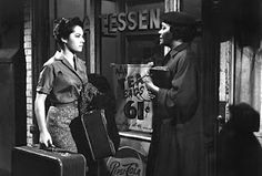 """Janita Moore and Susan Kohner from the film """"Imitation of Life"""".  A controversial tear jerker"""