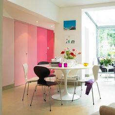 pink ombre doors