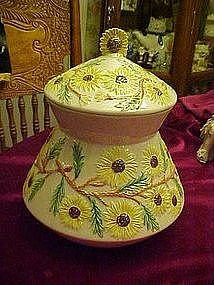 Sunflowers cookie jar