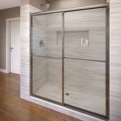 "Basco Deluxe 68"" x 48""  Framed Bypass Sliding Shower Door Glass Type:"