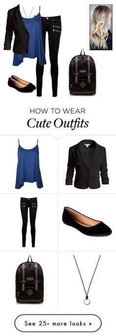 """""""Everyday Outfit"""" by amylightwood on Polyvore featuring Paige Denim, WearAll, Sans Souci, FOSSIL, Madden Girl and JanSport"""