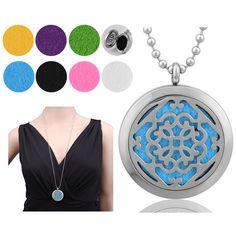 EUDORA Necklace Fragrance Essential Oil Aromatherapy Diffuser Pendant Locket #EUDORA #AromatherapyPendant