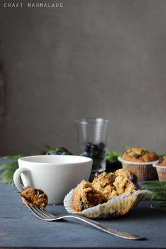 craft marmalade: Muffin integrali soffici ai mirtilli