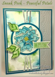 Sneak Peek - Stampin' Up! Peaceful Petals Card - MOJO323 - Christy Fulk, Stampin' Up! Demo