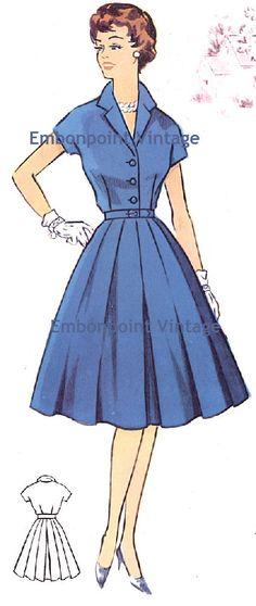 Plus Size (or any size) Vintage 1950s Dress Pattern - PDF - Pattern No 67 Sherry. $10.20, via Etsy.