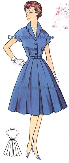 Plus Size (or any size) Vintage 1950s Dress Pattern - PDF - Pattern No 67 Sherry. $10.20, via Etsy.