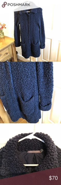 """Boden Limited Edition Navy Wool Sweater Coat This sweater coat is so soft and so warm! Super pretty navy blue color! Quality product. Very good condition! Size 4 Measurements: Pit to pit-14"""" Collar to bottom-35"""" Boden Limited Edition Sweaters Cardigans"""