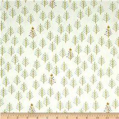 Cotton + Steel Tinsel Tree Cream