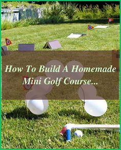 How to Build a Homemade Mini Golf Course | eHow.com | Back Yard Mini Golf | Diy Putting Green | Diy Putting Green Backyard How To Build | Backyard Putting Green Design. Lots of golfers would love their own putting green, however think they can't afford it. Let's have a look at how you can build your very own putting green #minigolfers #golfcourse #golfexercises #RISE Golf Course Golf Swing Analysis, Backyard Putting Green, Golf Instruction, Golf Exercises, Golfers, Improve Yourself, Golf Courses, How To Find Out, Things To Come