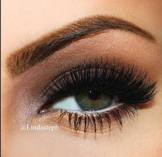 smokey, not too dark, w/o false eyelashes can be wearable for day(great for green eyes)
