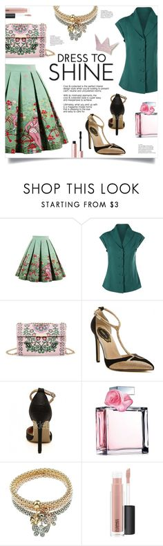 """""""Dress To Shine"""" by mahafromkailash ❤ liked on Polyvore featuring Ralph Lauren, MAC Cosmetics and Too Faced Cosmetics"""