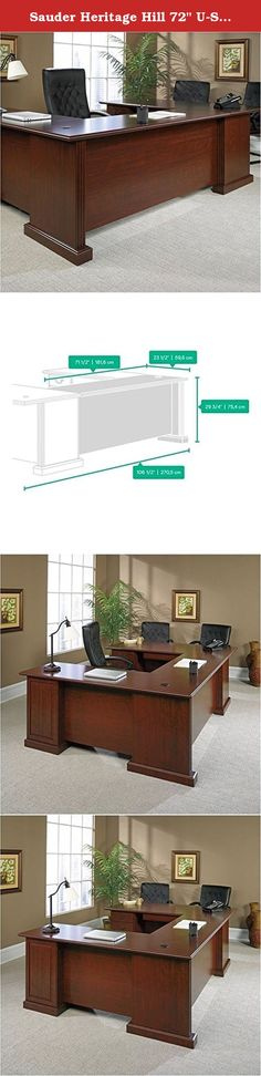 """Sauder Heritage Hill 72"""" U-Shape kit, only (desk not included). Sauder(R) expands on a classic. Traditional design with modular expansion make these classic cherry units a flexible executive office suite to meet your always changing needs. The return may be attached to either the left or the right side of the desk. One of the pedestals from the desk is mounted to the return which is then attached to the open side of the desk."""