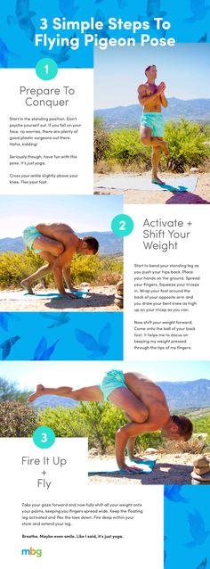 3 Simple Steps To Flying Pigeon Pose - mindbodygreen.com