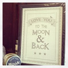 Large framed print- new from East Of India Love you to the moon and back Black and Pinterest Valentines, Shabby Chic Gifts, Create A Board, Things To Buy, Wooden Signs, Wedding Venues, Love You, Framed Prints, Competitions Uk