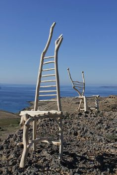 #handmade #olive #wood #chair