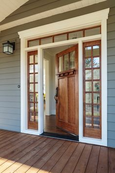 Front porch with custom ceiling cedar posts stone for Madeira hauser