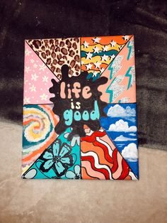 ideas on canvas trippy Simple Canvas Paintings, Easy Canvas Art, Small Canvas Art, Easy Canvas Painting, Mini Canvas Art, Cute Paintings, Diy Canvas, Canvas Painting Designs, Painted Canvas
