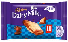 Two new products are available in UK confectionery aisles this month: Cadbury Dairy Milk LU and Cadbury Dairy Milk Ritz. Dairy Milk Chocolate, Cadbury Dairy Milk, Cadbury Chocolate, Chocolate Sweets, Dairy Free Coffee Creamer, Dairy Free Pudding, Dairy Free Appetizers, Dairy Free Pesto, Dairy Free Frosting