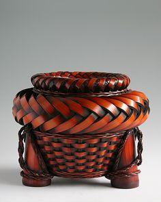 Japanese Bamboo Basket  Artist anyone?