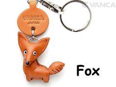 Fox 3D tire de cuero Animal llavero llavero monedero por VANCACRAFT