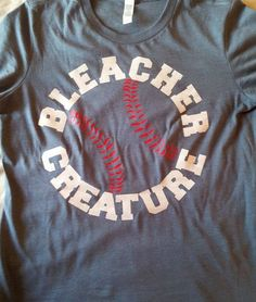 Baseball TShirt Softball TShirt Bleacher Creature by TShirtNerds, $17.95