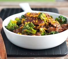 {Light} Orange Beef and Broccoli (replace soy sauce with Bragg's Aminos to make PCOS friendly. And make sure to use lower sugar or no sugar orange marmalade