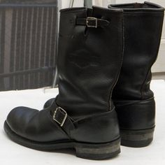 Vintage 'Harley-Davidson' ENGINEER BOOTS sz 9.5 by snazzy77vintage