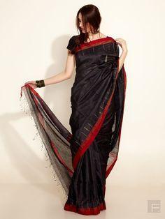 Silk- Cotton Multi- Colour Woven Sari