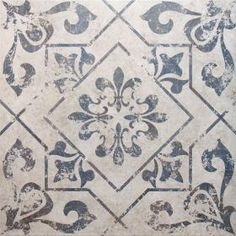 Blue Tiles Moresque Encaustic Effect Naklo Moroccan Tiles 450x450x9.5mm from Walls and Floors - Leading Tile Specialists - Over 20 Million T...