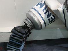 Jeans display at Harvey Nicols, london