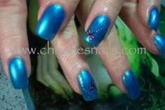 Dragonfly nail art on Christie's nails