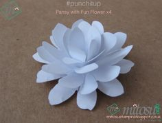 #punchitup Flower made from Stampin' Up! Pansy punch with Fun Flower punch.
