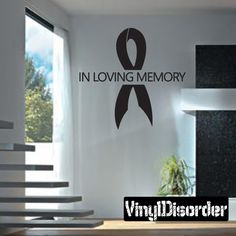In Loving Memory Ribbon Wall Decal - Vinyl Decal - Car Decal - Mv001