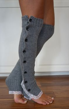 Boot Cozies™ Legwarmers - Surprisingly versatile, heather grey leg warmers look so cute worn alone, casually, or dressed up with a pair of heels and a leather skirt.