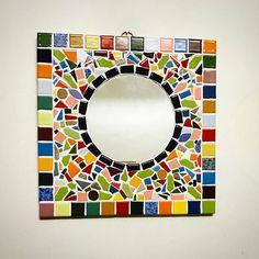 Paper Mosaic, Mosaic Diy, Mosaic Tiles, Mirror Mosaic, Diy Mirror, Mosaic Glass, Mosaic Designs, Mosaic Patterns, Mosaic Madness